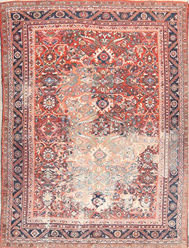 """Rug Source Pre-1900 Antique All-Over Mahal Sarouk Hand Knotted Antique Persian Area Rug 9x12 For Living Room (11' 8"""" x 8' 9"""")"""