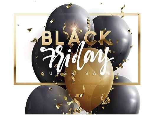 Vinilo Black Friday Escaparates Rebajas Black Friday blanco y ...