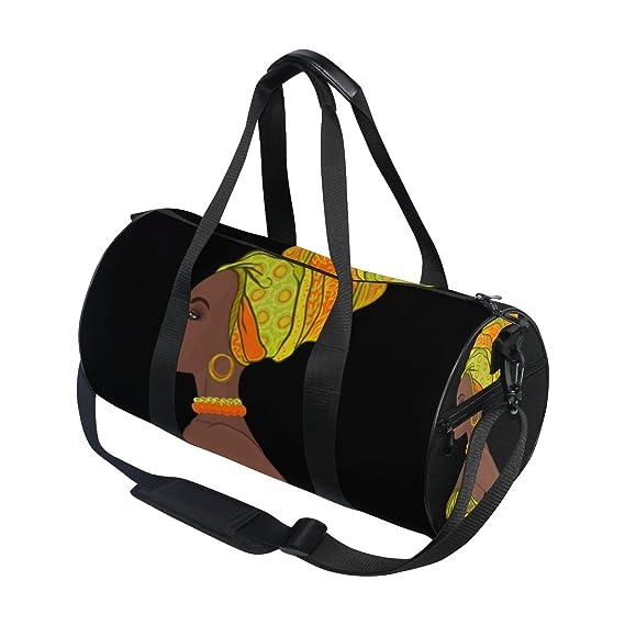 Sports Swim Gym Bag with Shoes Blue Yellow Art Compartment Weekender Duffel Travel Bags Handbag for Women Girls Men