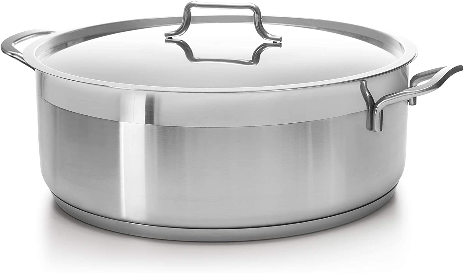 Hascevher Classic 18/10 Stainless Steel Dutch Oven Covered Stockpot Cookware Induction Compatible Oven Safe 8.5 Quart HD8