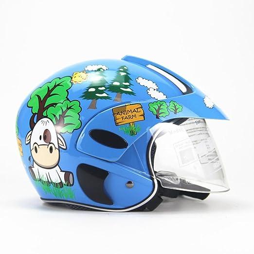duhe189014 Casco de Motocicleta para niños, Cuatro Estaciones ...