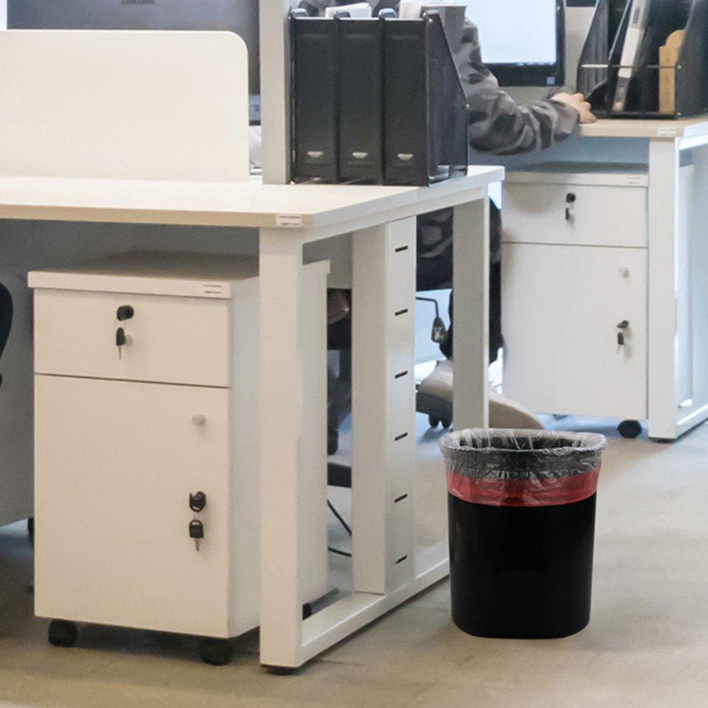 Fosly Espesar 5-6 litros Bolsa de Basura con Cord/ón 108 Bolsas Transparente Bolsa de Basura Resistentes