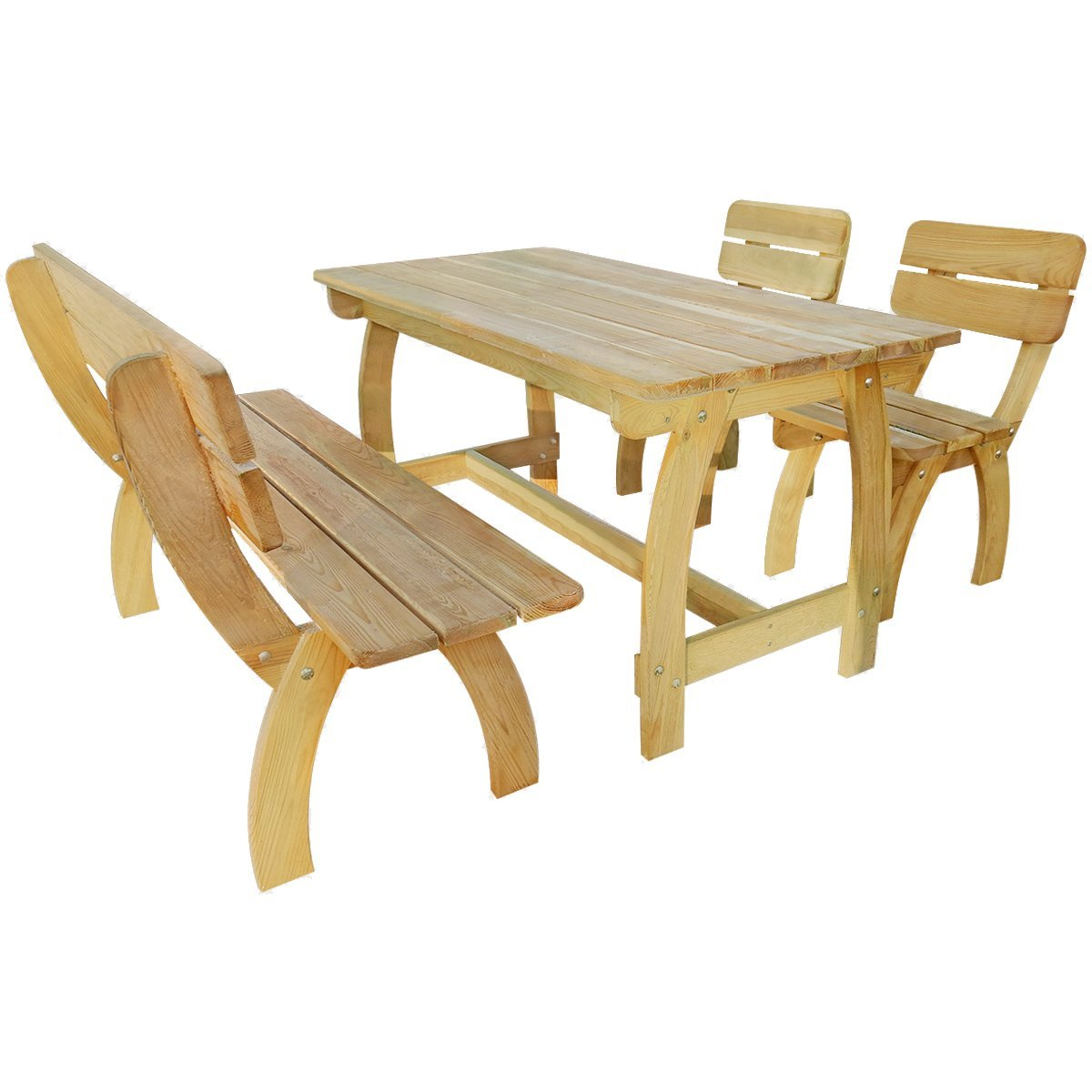 Amazon.de: vidaXL Holz Gartenset Gartenmöbel Essgruppe Sitzgruppe ...