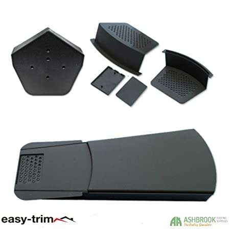 10 x Easy-Trim Verge U Dry Fix Ridge Tile System Gable End Plastic Roof Capping Black
