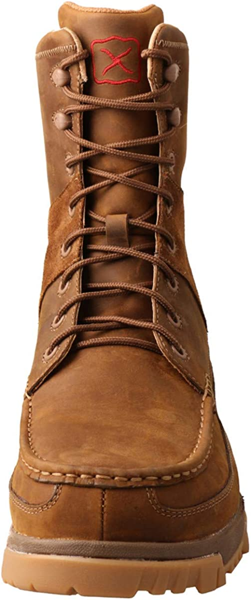 Twisted X Mens 8 Lace-Up CellStretch Leather Work Composite Toe Boot