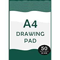 A4 Drawing Pad: 50 Sheets/100 Pages, 210mm x 297mm   Plain Drawing Notepad For Children   A4 Size Blank Kids Drawing…