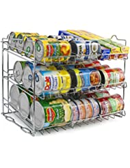 Sorbus Can Organizer Rack, 3 Tier Stackable Can Tracker U0026 Pantry Cabinet  Organizer Holds