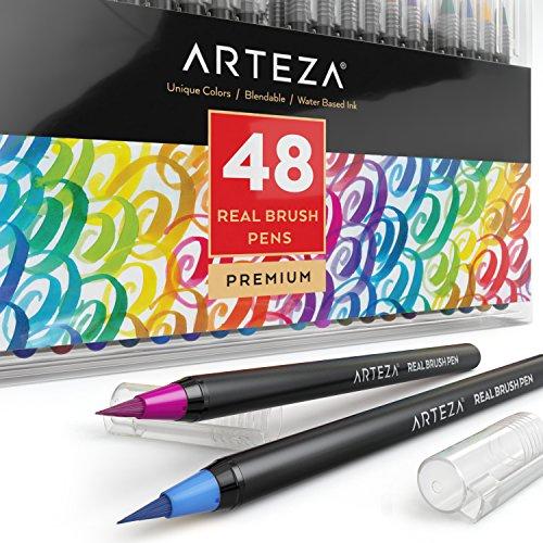 Arteza Real Brush Pens - 48-Colors - Watercolor Markers - (Set of 48) Image