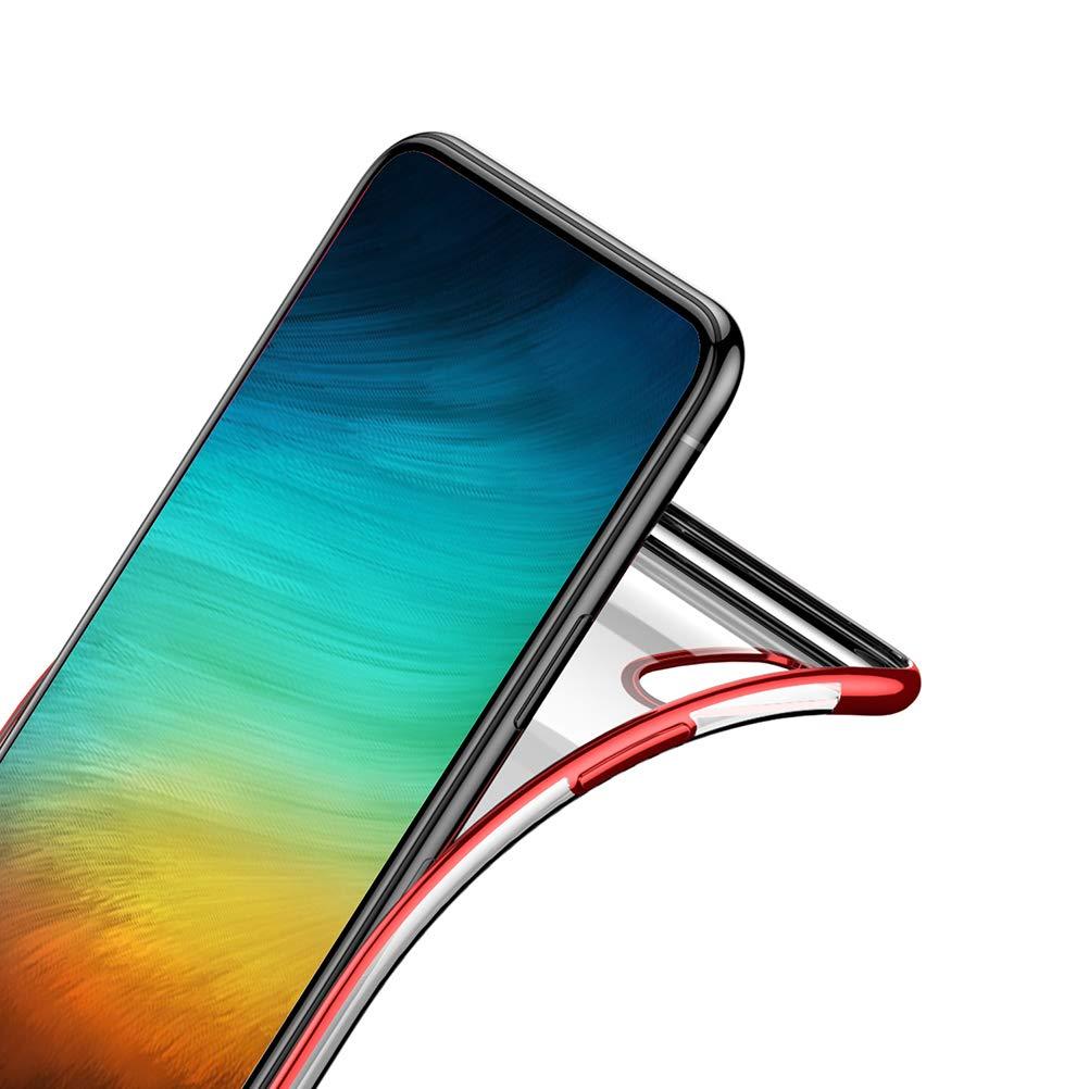 QPOLLY Compatible avec Huawei P Smart//Enjoy 7S Coque Paillette Brillante Bling Silicone Transparente Etui Ultra Mince Souple Flexible Housse Anti-Choc TPU Couverture Arri/ère Protection,Sparkle Argent