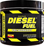 Strong preworkout for men and women DIESEL FUEL (peach punch) Natural Flavors no artificial colors with 2g BCAAs delicious taste
