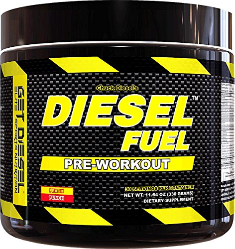 Strong preworkout for men and women DIESEL FUEL (peach punch) Natural Flavors no artificial colors with 2g BCAAs delicious taste by GET DIESEL NUTRITION