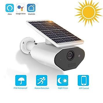 Amazon com: Outdoor Solar Powered Security Camera IP67