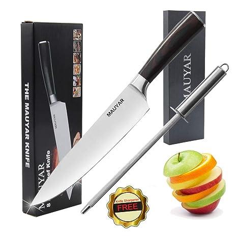 Mauyar - Cuchillo de chef profesional de 8 pulgadas ...