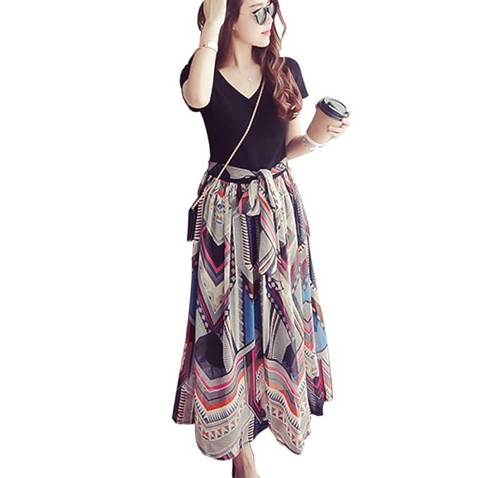 ZEVONDA Embarazo Vestido Lactancia Mujer - Moda Raya Premamá Blusa Maternidad de Manga Larga Bowknot Camiseta Vestidos Verano: Amazon.es: Ropa y accesorios