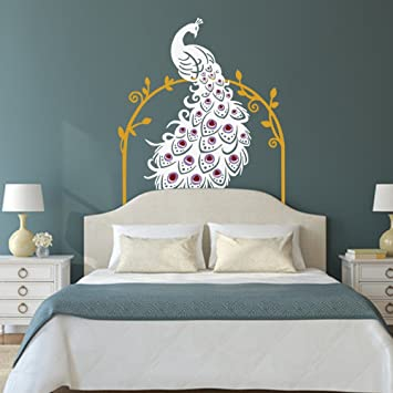 Peacock Wall Decal Peafowl Wall Sticker Animal Wall Decal Bird Wall Decal  Vinyl Nursery Wall Decal