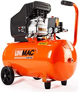 Unimac ACM-500 50L 3.5HP Portable Direct Drive Air Compressor, and 5pc Air Tool Kit