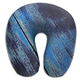 DMN U-Shaped Neck Pillow Texture Of Wood Pillows Soft Convertible Portable Multifunctional For Travel Reading And Sleeping