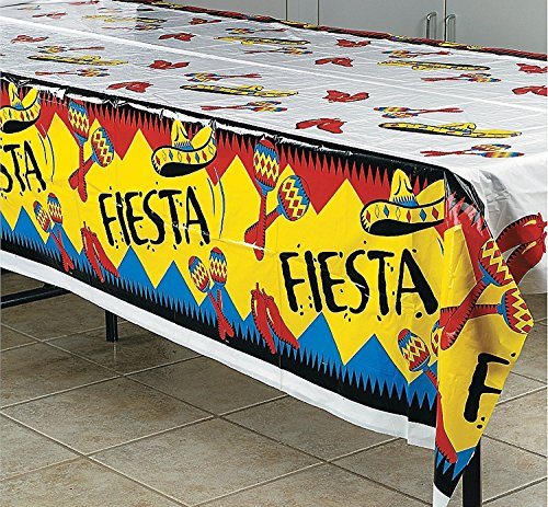 Fun Express Fiesta Tablecloth (3-Pack) | Mexican & Cinqo De Mayo Table Cover