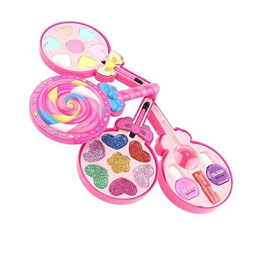 FLAMEER Kinder Schminkset Schminke Make-up Kit Kosmetik Rollenspielzeug für Mädchen ab 6 Jahre alt - Bonbons