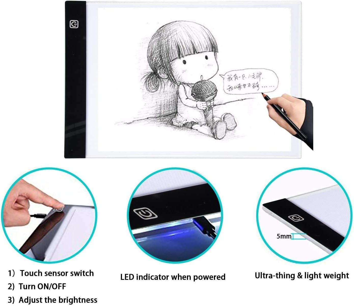 220 V A3 enchufe de la UE dise/ño Stencil Drawing Thin Pad Copy Lightbox tabla de dibujo con LED Caja de luz de artista