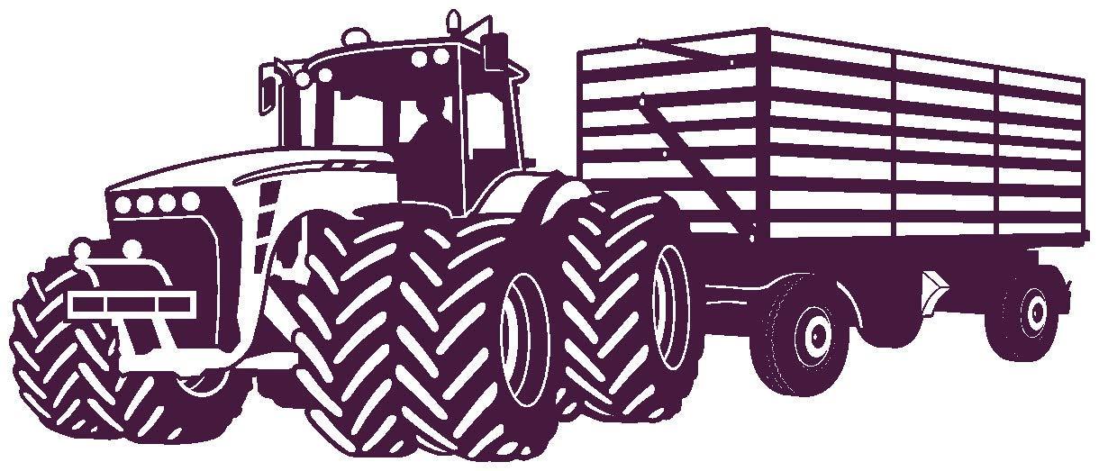 Samunshi® Wandtattoo Großer Traktor mit Anhänger Trecker Kinderzimmer Kinder Wandaufkleber in 8 Größen und 20 Farben (140x59cm grün) B06W57NC29 Wandtattoos & Wandbilder