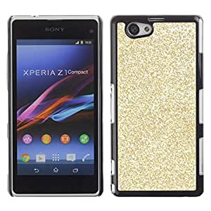 Paccase / SLIM PC / Aliminium Casa Carcasa Funda Case Cover - Glitter Bling Money Rich Sparkly - Sony Xperia Z1 Compact D5503