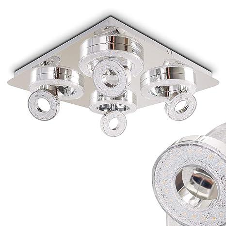 Luz de techo cuadrada Lakeshore - Lámpara de techo LED 3000 ...