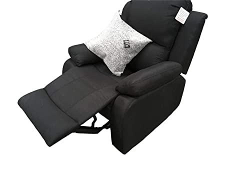 Cool Ukleisureworld Recliner Lazyboy Single Chair Black Sofa Suites Settee Charcoal Three Two One Grey Fabric 3 2 1 Seater Charcoal Single Seat Machost Co Dining Chair Design Ideas Machostcouk