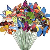 Teenitor Butterfly Stakes, 60pcs 7cm Garden Butterfly Stakes Decor Outdoor Yard Patio Planter Flower Pot Spring Garden: more info