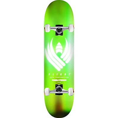 """Powell-Peralta Skateboard Assembly Flight 02 245 Glow Lime 8.75"""" x 32.95"""" : Sports & Outdoors"""