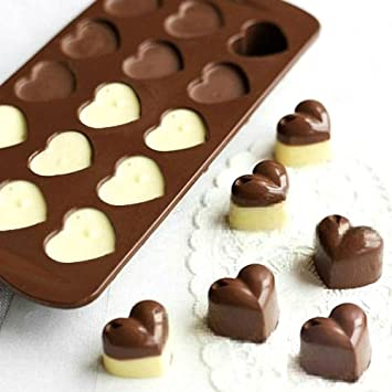 NaiseCore Molde de silicona para tartas de chocolate con forma de corazón: Amazon.es: Hogar
