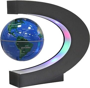 Rotierenden LED Leuchtglobus Schwebende Magnetischen Globus Levitation Weltkarte