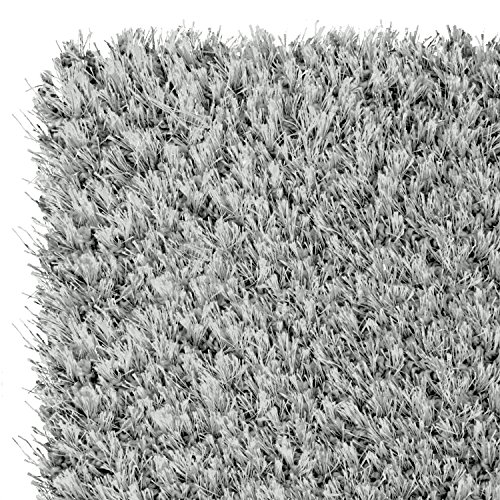 Amazon Com Shaggy Rugs Silver Quot 4 Sizes Availlable Quot 3ft9