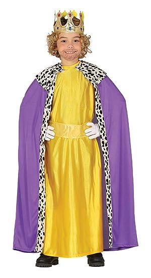 Guirca Disfraz de Rey Mago Amarillo para Niño: Amazon.es: Juguetes ...