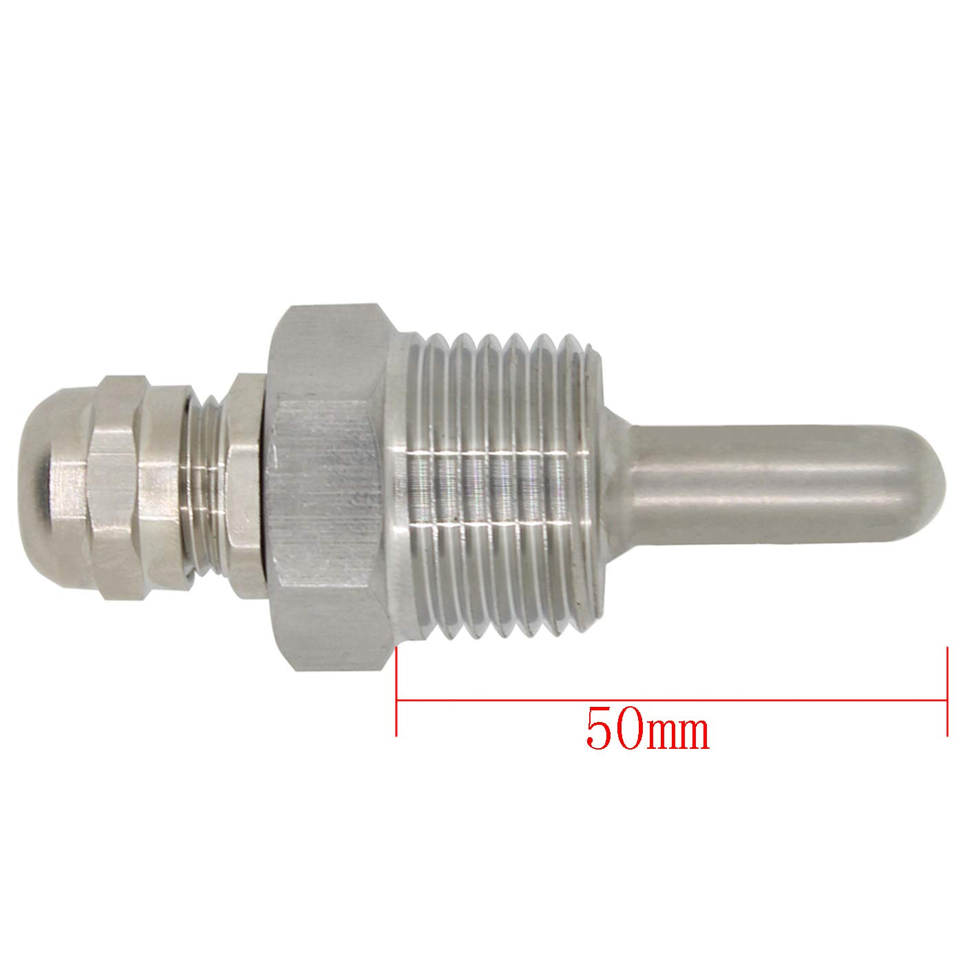 1//2 inch Brewing thermowell Stainless Steel 304 with Cap for Beer fermenter Homebrew Boiler 30mm 50mm 100mm 150mm 200mm 300mm 400mm 500mm 30mm