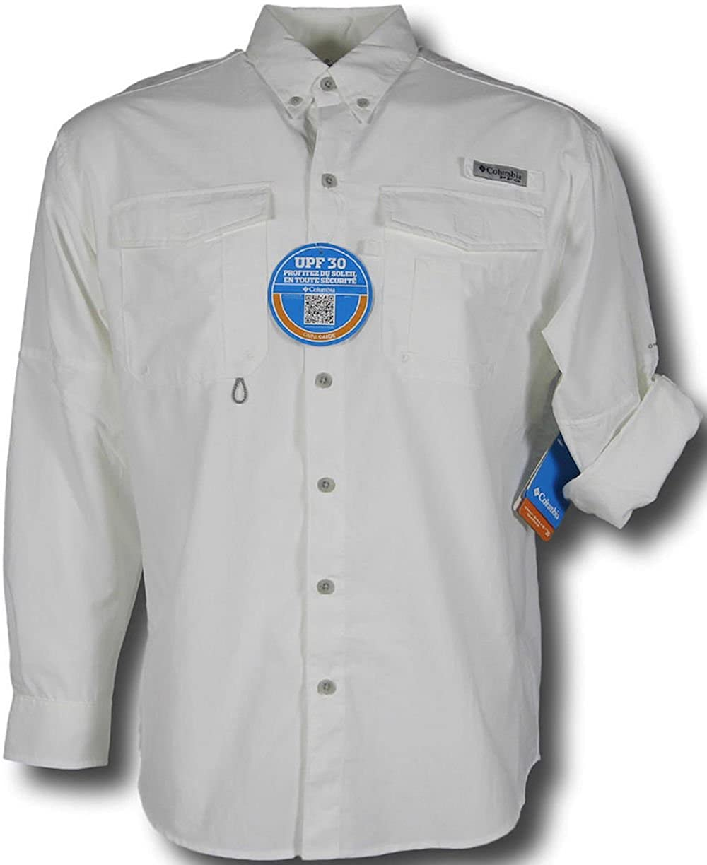 de75765a855 Columbia Men's PFG Omni-Shade UPF 30 Distant Water Convertible Sleeve Shirt:  Amazon.co.uk: Clothing