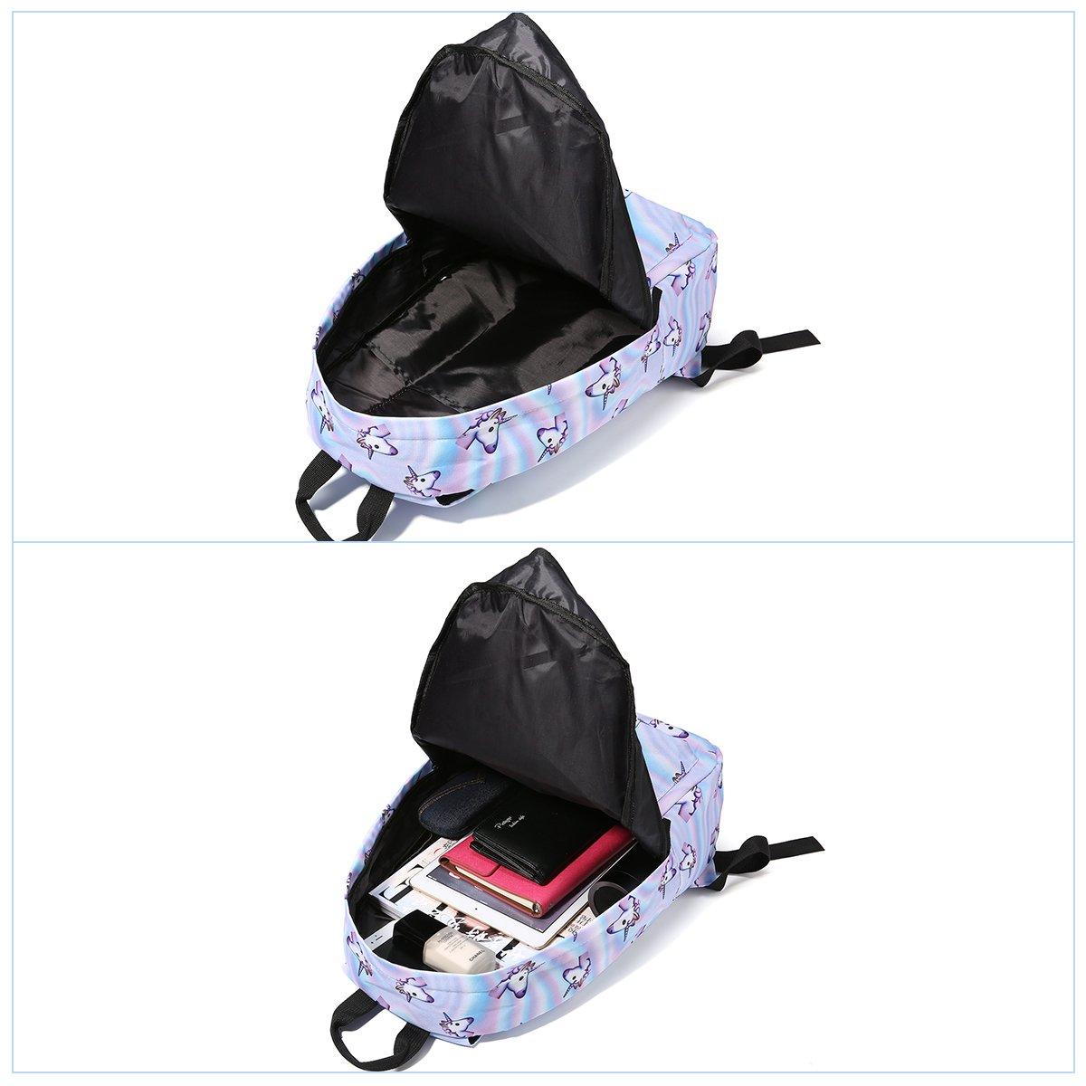 Tezoo Casual Schulrucksäcke Rucksack Damen Einhorn Rucksäcke Schule Daypacks Kinderrucksack für 14 Zoll Laptop College Backpack für Kinder Jungen Studenten Blau