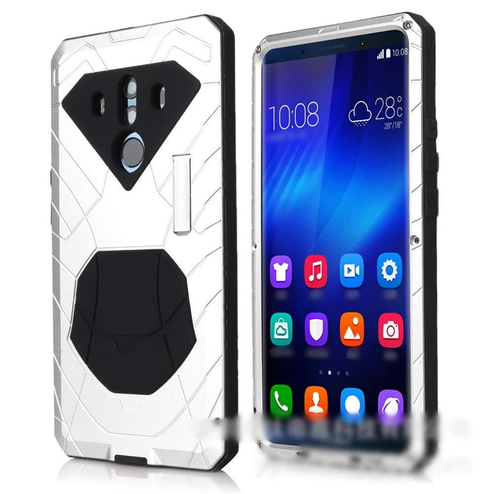 ACHAOHUIXI Huawei P20、P20 Pro、P10、P10 Pro、P9、Mate10、Mate10 Pro用ファッション3アンチ携帯電話シェル ハイエンド メタル保護カバー電話ケース (Color : ホワイト, Edition : Mate10 Pro)