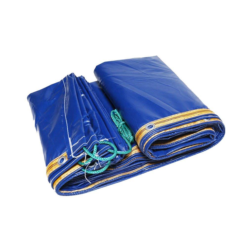 Tarpaulin HUO Wasserdichte Plane, Dauerhafte Abdeckungs-Leinwand Der Verstärkungs-Leinwand, Anti-UV-Riss-Widerstand Blau (Farbe   Blau, größe   2  3m)