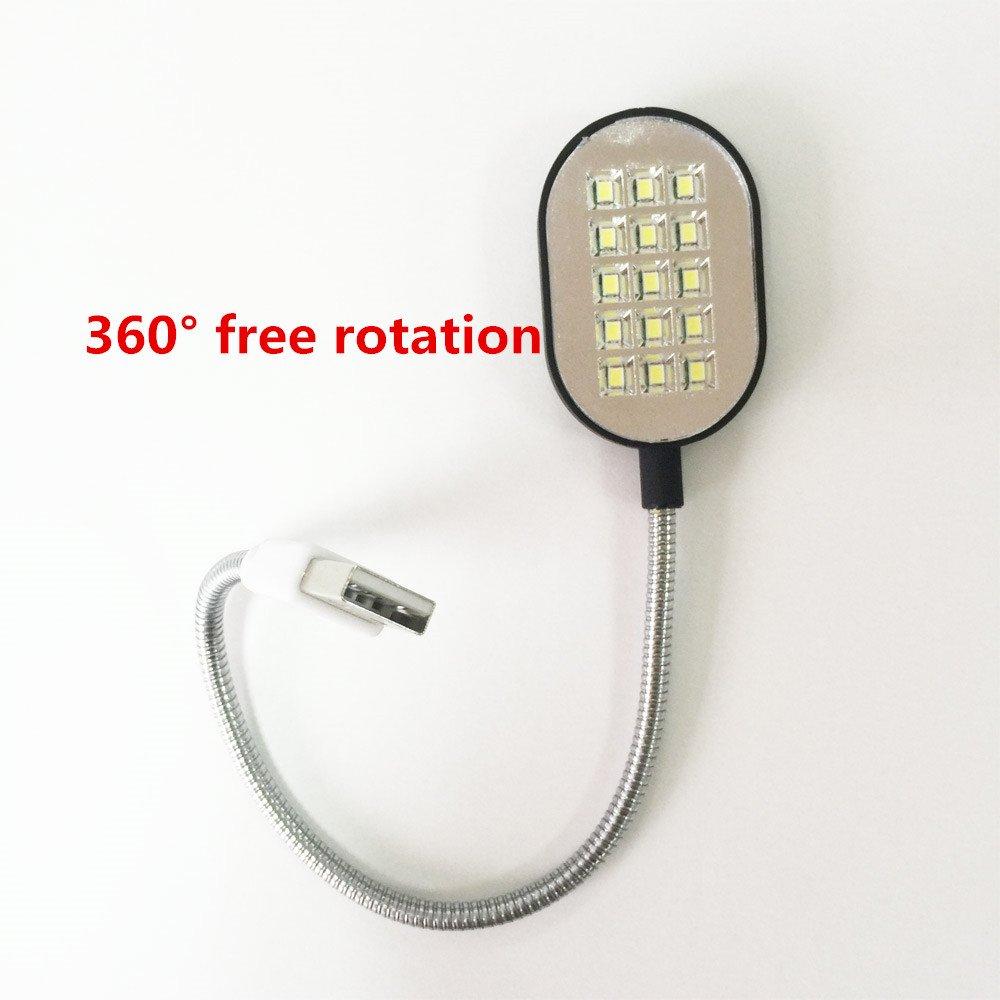 Flexible 31.4cm Ultra Bright Mini 15 LEDS Computer USB Light Lamp For PC Laptop Computer Convenient for reading flashlight torch