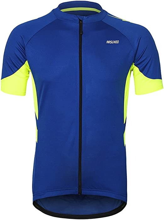 ARSUXEO 636 - Maillot de ciclismo de manga corta para hombre ...