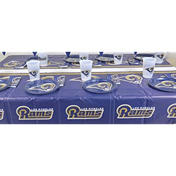 LOS Angeles Rams, 4th Of July Barbecue 49 Pieces Party Set, Tablecloth,16
