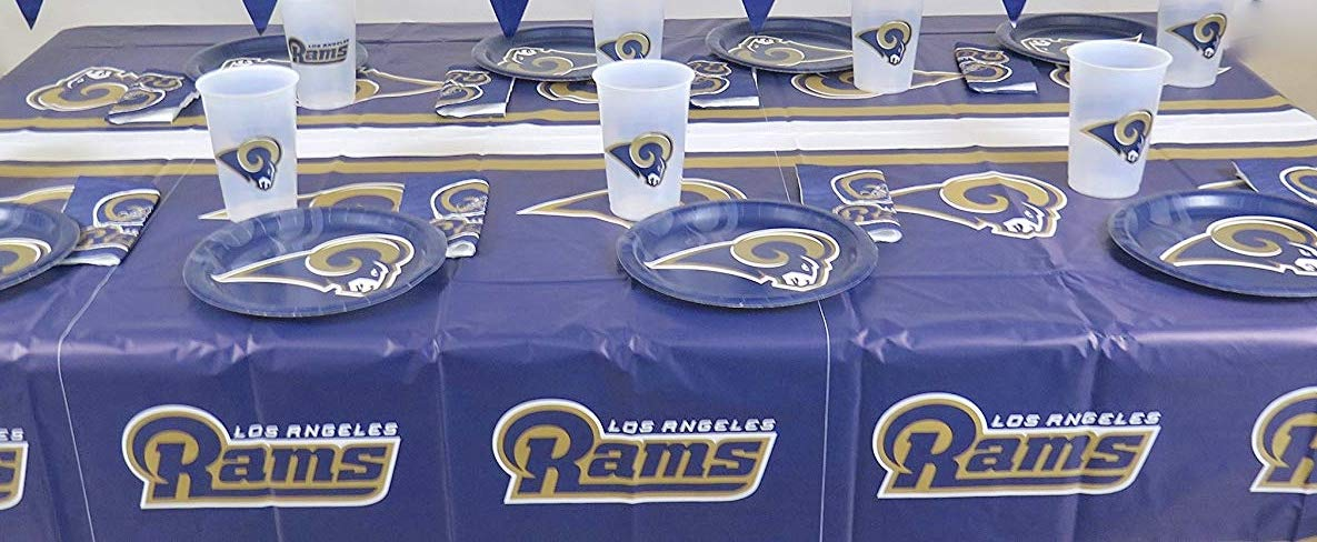 93c115ff Amazon.com : LOS Angeles Rams, 4th of July Barbecue 49 pieces Party ...