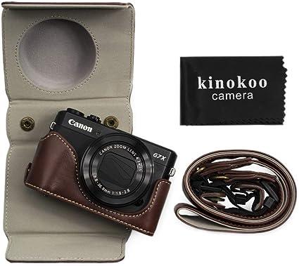 Kinokoo Pu Leder Tasche Für Canon Powershot G7 X Mark Kamera