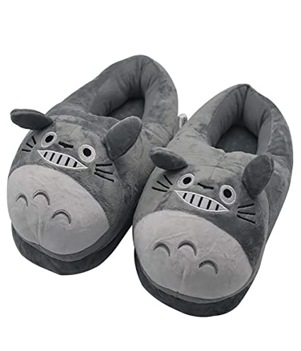 740efc9d952f Image Unavailable. Image not available for. Color  SHANGXIAN Cute Totoro  Animal Slipper Comfort Fluffy Plush ...