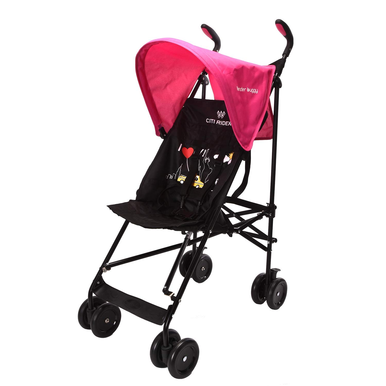 Wonder buggy Lightweight Baby Jumbo Umbrella Stroller with Rounded Hood Pink