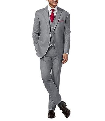 Amazon.co.jp: スーツ スリーピース メンズ グレー 2つボタン
