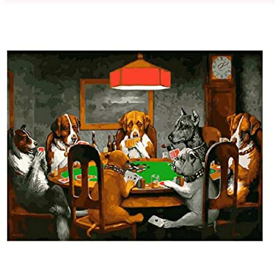 Classic Jigsaw Puzzles 1000 Pieces Adults Puzzles Wooden Puzzles Dogs Playing Poker DIY Modern Home Decor 75X50Cm: Toys & Games [5Bkhe0901450]