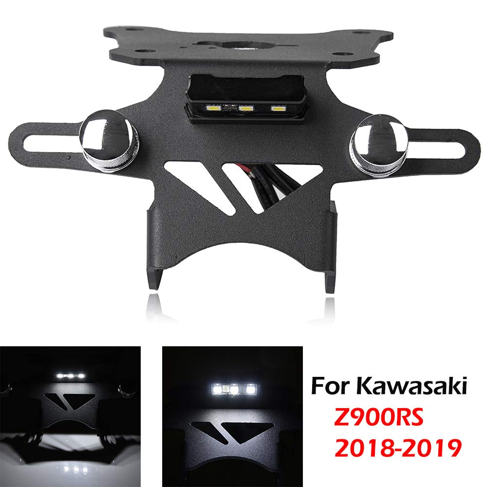 Z900RS Accessories License Plate Bracket Eliminator Tail Tidy Holder with LED light for Kawasaki Z 900RS Z 900 RS 2018 2019 by XX eCommerce