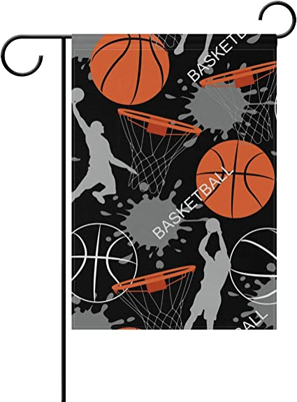 Amazon Com Basketball Sports Pattern Garden Flag Two Sided Polyester Yard Flag For Home Decoration 12x18 Inch Garden Outdoor